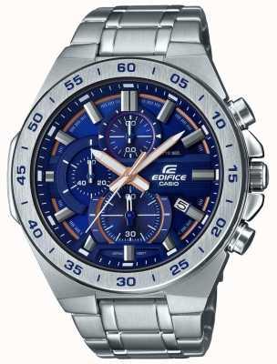 Casio | строительный хронограф | браслет из нержавеющей стали | синий циферблат EFR-564D-2AVUEF