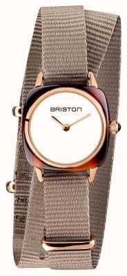 Briston | владелец клуба леди | Нато ремешок однотонный | розовое золото пвд 19924.PRA.T.2.NT
