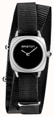 Briston | владелец клуба леди | один черный нато ремешок | черный циферблат | 19924.S.M.1.NB