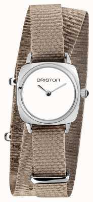 Briston | владелец клуба леди | Нато ремешок однотонный | белый циферблат | 19924.S.M.2.NT