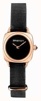 Briston | дама клуба | одиночный черный нато | корпус из пвд розового золота | 19924.SPRG.M.1.NB - SINGLESTRAP
