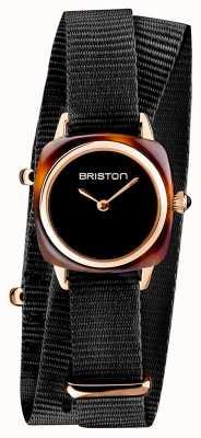 Briston | владелец клуба леди | один черный нато | корпус из розового золота | 19924.SPRG.M.1.NB