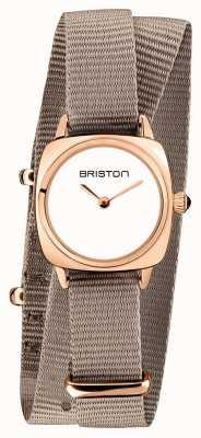Briston | владелец клуба леди | однотонный нато | корпус из розового золота | 19924.SPRG.M.2.NT