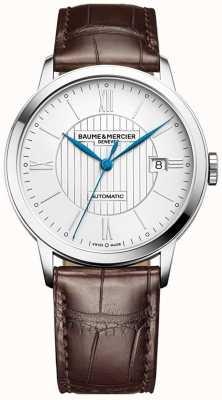 Baume & Mercier | мужские классы | автоматический | коричневая кожа | серебряный циферблат | M0A10214