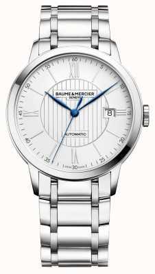 Baume & Mercier | мужская классика | автоматический | нержавеющая сталь | серебряный циферблат M0A10215
