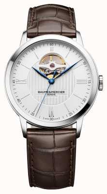 Baume & Mercier | мужская классика | коричневая кожа | серебряный циферблат | автоматический | M0A10274
