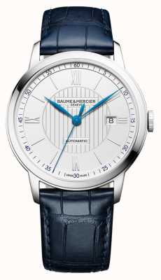 Baume & Mercier | мужская классика | автоматический | синяя кожа | серебряный циферблат | M0A10333