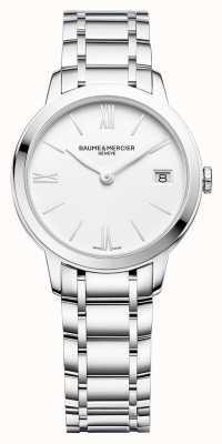 Baume & Mercier | женские классы | браслет из нержавеющей стали | белый циферблат | M0A10335