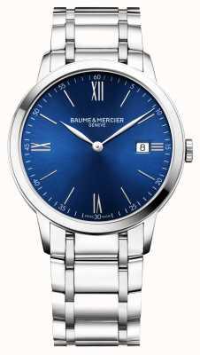 Baume & Mercier | мужская классика | браслет из нержавеющей стали | синий циферблат | M0A10382