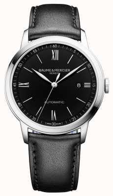 Baume & Mercier | мужская классика | автоматический | черная кожа | черный циферблат | M0A10453