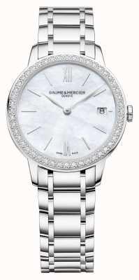 Baume & Mercier | женские классы | алмазная рамка | браслет из нержавеющей стали M0A10478