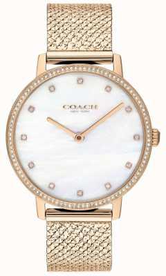 Coach | женская | Одри | сетка из розового золота | жемчужный циферблат | 14503360