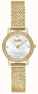 Coach | женская | Одри | золотая сетка из пвд | жемчужный циферблат | 14503371