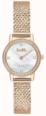 Coach | женская | Одри | сетка из розового золота | жемчужный циферблат | 14503372