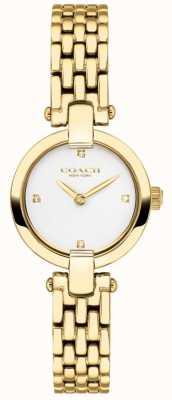 Coach | женская | Кристи | золотой браслет из пвд | белый циферблат | 14503391