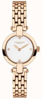 Coach | женская | Кристи | браслет из розового золота | белый циферблат | 14503392