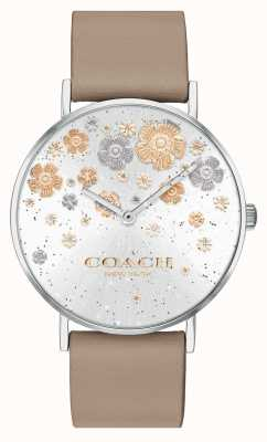 Coach | Перри | кожаный ремешок из камня | цветочный циферблат с блестками | 14503326