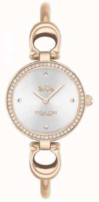 Coach | женская | парк | браслет из розового золота | серебряный циферблат | 14503447