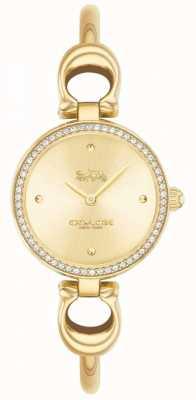 Coach | женская | парк | золотой браслет из пвд | золотой циферблат | 14503446