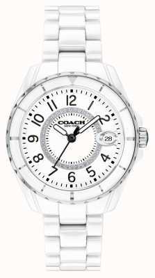 Coach | женская | Престон | белый керамический браслет | белый циферблат | 14503462