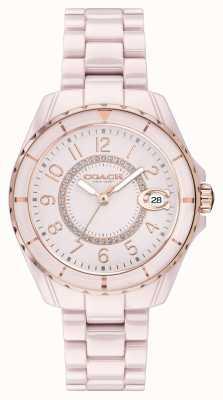 Coach | женская | Престон | розовый керамический браслет | розовый циферблат | 14503463