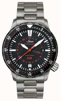 Sinn U2 sdr Стальной таймер миссии для подводной лодки 1020.040bracelet