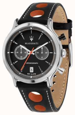 Maserati | эпока гонки 42мм | черный кожаный ремешок | черный циферблат | R8851138003