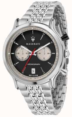 Maserati | эпока гонки 42мм | браслет из нержавеющей стали | черный циферблат R8873638001