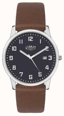 Limit | мужской коричневый кожаный ремешок | синий циферблат | 5743.01