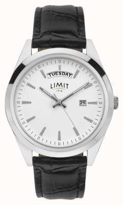 Limit | мужская черная кожа | серебряный циферблат | серебряный кейс | 5749.01