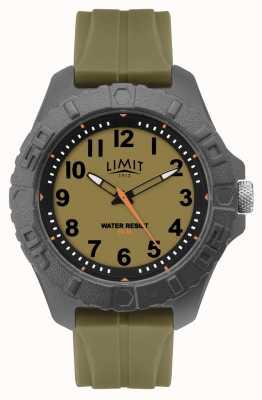 Limit | мужской активный взрослый аналог | зеленый резиновый ремешок | 5753.01