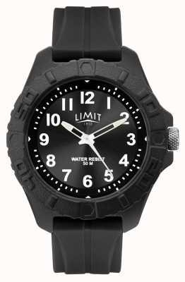 Limit | мужской активный взрослый аналог | черный резиновый ремешок | 5754.01