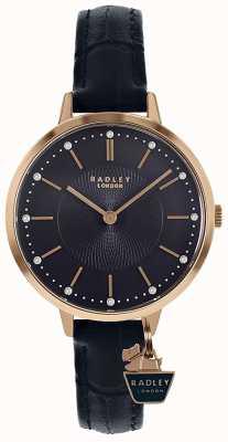 Radley | женский чехол из розового золота | синий кожаный ремешок | RY2798