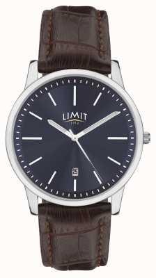 Limit | мужской коричневый кожаный ремешок | синий циферблат | серебряный кейс | 5745.01