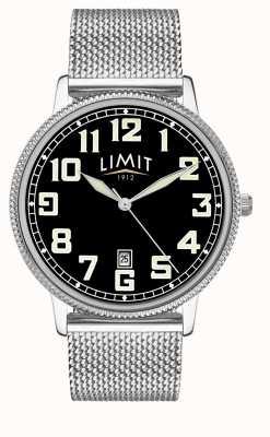 Limit | мужской браслет из нержавеющей стали | черный циферблат | 5748.01