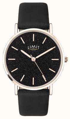 Limit | женский секретный сад | черный кожаный ремешок | черный циферблат | 60045.73
