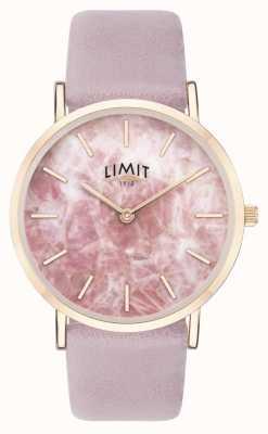 Limit | женский секретный сад | фиолетовый кожаный ремешок | розовый циферблат | 60051.73
