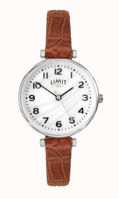 Limit | женский коричневый кожаный ремешок | перламутровый циферблат | 60060.01