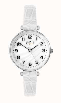 Limit | женский белый кожаный ремешок | перламутровый циферблат | 60061.01