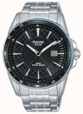 Pulsar | ускоритель спорта | браслет из нержавеющей стали | черный циферблат PX3203X1