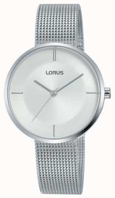 Lorus | женский браслет из нержавеющей стали | серебряный циферблат | RG257QX9