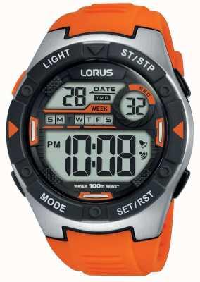 Lorus | мужские спортивные цифровые | оранжевый резиновый ремешок | R2303NX9
