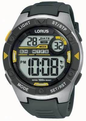Lorus | мужские спортивные цифровые | черный резиновый ремешок | R2397MX9