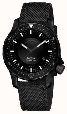 Muhle Glashutte | морской таймер черного движения | черный синтетический браслет | M1-41-83-NB