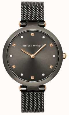 Rebecca Minkoff Женская Нина | серый сетчатый браслет | серый циферблат | 2200302