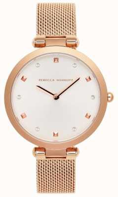 Rebecca Minkoff Женская Нина | браслет из розового золота | белый циферблат | 2200301