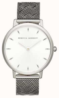 Rebecca Minkoff Женская майор | браслет из нержавеющей стали | серебряный циферблат | 2200297