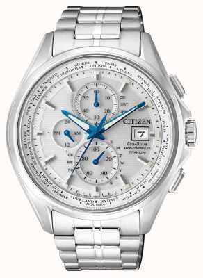 Citizen | мужской эко-драйв мировой хронограф на | титановый браслет | AT8130-56A