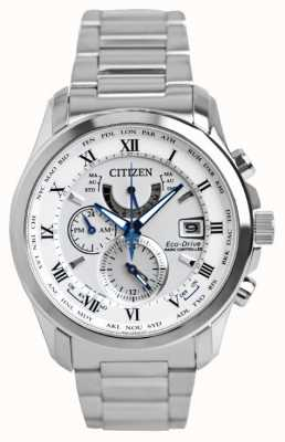Citizen | мужское эко-драйв мирового времени на | браслет из нержавеющей стали | AT9081-89A