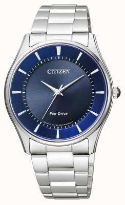 Citizen | мужской эко-драйв | браслет из нержавеющей стали | синий циферблат | BJ6480-51L